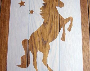 Unicorn Stencil + Positive Mask Reusable Mylar Sheet for Arts & Crafts, DIY