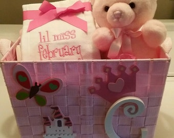 Baby Girl Shower/Gift Basket
