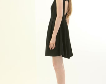 Little black dress with cut out back