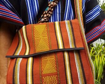 Brown Messenger Bag - 100% Wool (Colombia)
