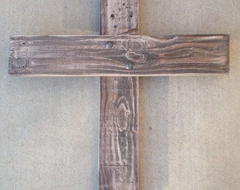 Pallet Cross with Rustic Nail | Cross | Pallet Wood Cross | Wood Cross | Rustic Cross | Easter Cross | Confirmation Cross