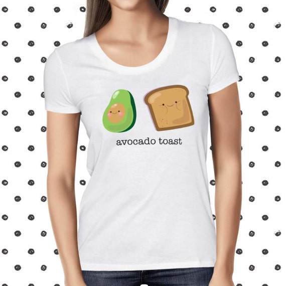 Vegan Avocado Toast T-shirt for Women - Vegetarian Women's Shirt - Avotoast Shirt - Vegan Healthy Tee - Plant-based T Shirt - Pun Avocado T