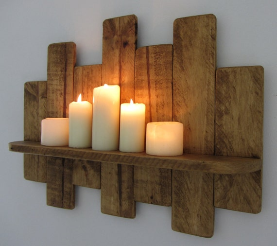 64cm reclaimed holz schwimmende palettenregal von. Black Bedroom Furniture Sets. Home Design Ideas