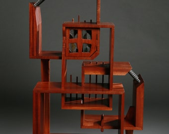 Art Furniture, Handmade, Playful, sculptural cabinet