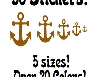 36~Multi-sized Anchor sticker or wall decal