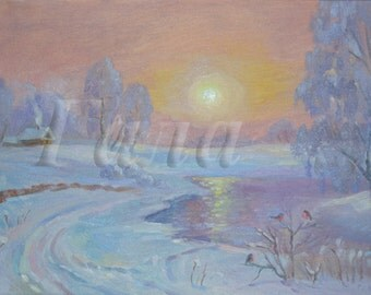 "Landscape ""January day""."