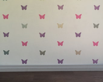 Butterfly Wall Decals - Removable vinyl wall decals/stickers