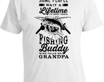 Funny Fishing T Shirt Grandpa Gift ideas For Men Fishing Gifts For Fishermen Grandpa Shirt Grandpa's Fishing Buddy Mens Tee FAT-197