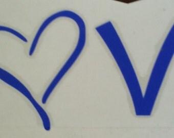 Love Decal/Faith Hope Love Decal/Heart Decal