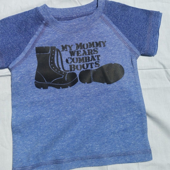my mommy wear combat boots youth t shirt by bobettacreations