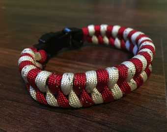 WOO PIG SOOIE Reflective Fishtail Paracord Bracelet, Made in America