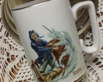 "Norman Rockwell ""Braving the Storm"" Mug"