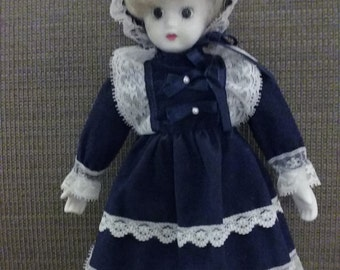 Porcelain and cloth collector doll made in Taiwan R O C
