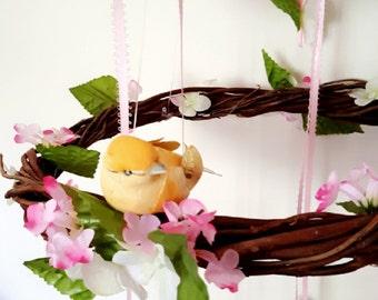 Bird Nest Baby Mobile