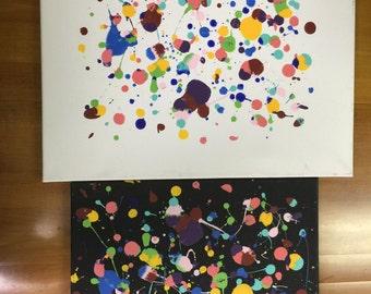 Ying Yang Splatter Paint