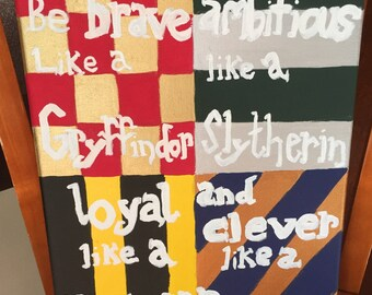 Hogwarts House Canvas