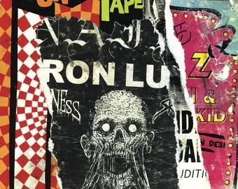 Art print/decollage/Carni/torn poster/creep show/horror/circus/urban/gift idea