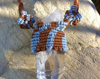 Quartz Crystal Macrame Necklace