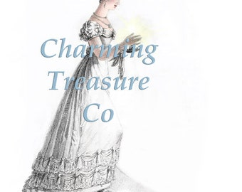 Jane Austen era Ackermann Fashion Plate Print DIGITAL PDF