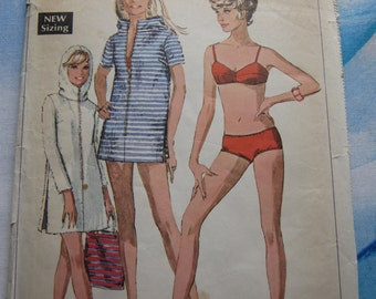 Simplicity 7594 1968 Bikini and Swim Cover-Up Sewing Pattern 14