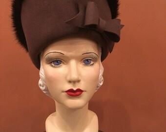 Vintage Ladies Hat inspired by Pirate Hat Steampunk Gothic Victorian