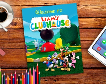 Personalized Mickey Mouse Clubhouse Poster print