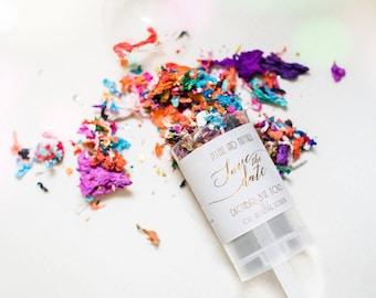 Custom confetti poppers