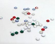 Christmas Rhinestones, Swarovski Hotfix Crystal, Flat Back, Assorted Colors 2028, 2.7mm Xilion Rose, SS10, Bulk Rhinestones, DIY, SA2241