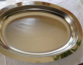 Stainless Steel Large Oval Serving Platter