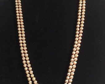 Vintage Napier gold bead necklace