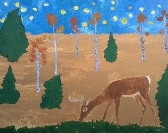 Original Painting Deer