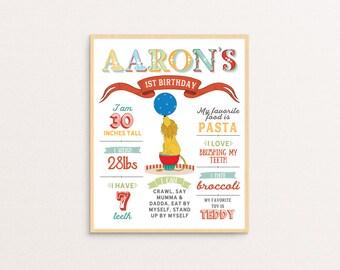 Vintage Circus / Carnival Birthday Poster