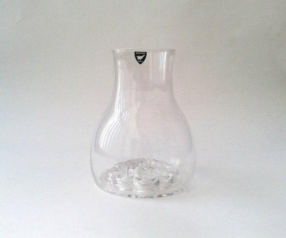 "Scandinavian Midcentury Orrefors Crystal Vase 6.25"" x 4.75"""