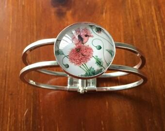 Flower Cuff Bracelet Bangle