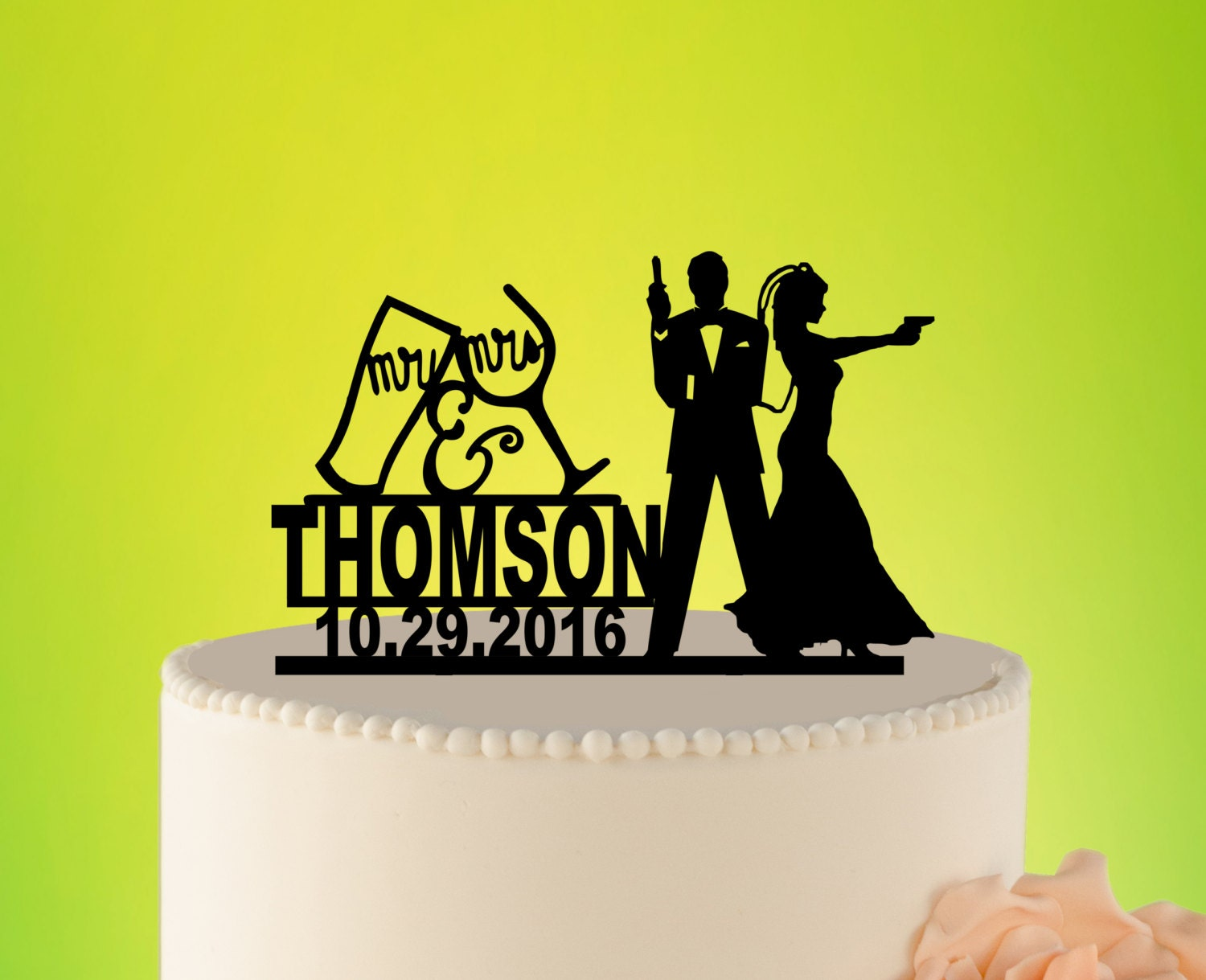 JAMES BOND Wedding Cake Topper, 007 Wedding Cake Topper, Wedding ...