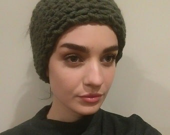 Handmade chunky knit wool headband, earwarmer