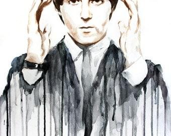 Paul McCartney Watercolour Portrait