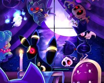 Ghost Pokemon Manor 11x17 print