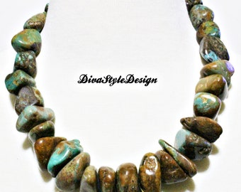Chunky Nevada Turquoise Statement Necklace