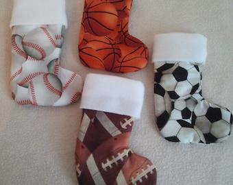 Mini Sport Stocking Ornaments