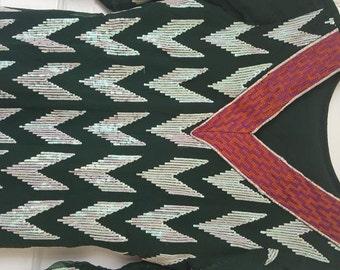 Green indian pakistani formal dress