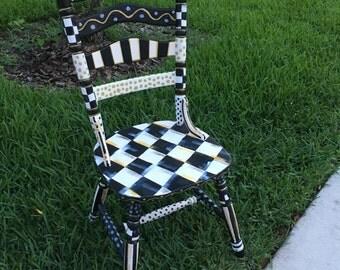 MacKenzie childz inspired kitchen chair/whimsical /furniture