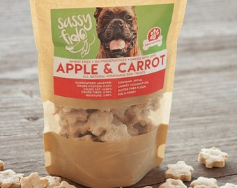 Apple & Carrot Gluten Free Dog Treats  • Dog Biscuits