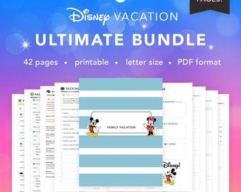 ULTIMATE Bundle Planner Pack 42 Pages | Disney World Trip Planner | Travel Info, Resort, Budget, Agendas + more! | INSTANT DOWNLOAD