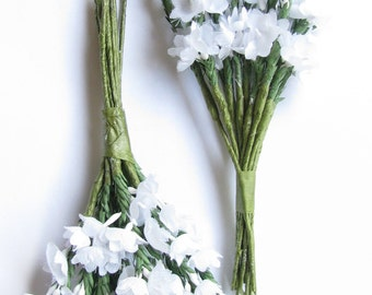 White Heather - Two Sprays of Artificial Heather - 12 Stems in Each Spray. Suitable for Wedding Corsage; or separated into sprigs for Crafts