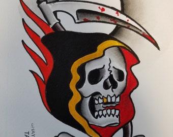 Traditional Reaper Tattoo Art