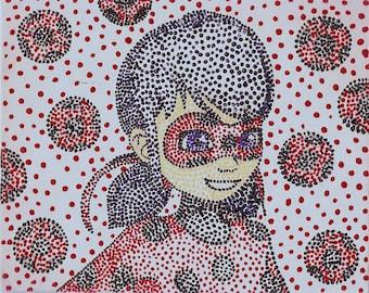 Miraculous Ladybug Dot Art: Ladybug