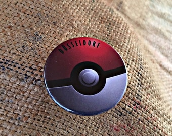 Pinback Button Badge, Badge, Button Badge, Limited,Pokeball , only, Pokemon