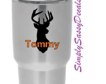 Personalized Deer Decal