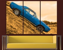 Old Car Canvas Print Wall Art Dodge Challenger Wall Art Cars Canvas Art Sport Cars Wall Art Sport Cars Print Poster Challenger Wall Decor
